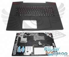 Tastatura Lenovo IdeaPad Y70-70 neagra cu Palmrest negru iluminata backlit. Keyboard Lenovo IdeaPad Y70-70 neagra cu Palmrest negru. Tastaturi laptop Lenovo IdeaPad Y70-70 neagra cu Palmrest negru. Tastatura notebook Lenovo IdeaPad Y70-70 neagra cu Palmrest negru
