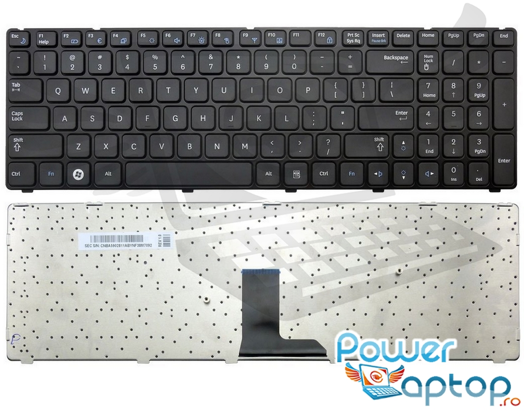 Tastatura Samsung NP R580 imagine
