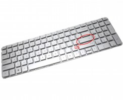Tastatura HP  644356 061 Argintie. Keyboard HP  644356 061. Tastaturi laptop HP  644356 061. Tastatura notebook HP  644356 061