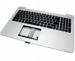 Tastatura Asus MP-13K93SU-5283 neagra cu Palmrest argintiu. Keyboard Asus MP-13K93SU-5283 neagra cu Palmrest argintiu. Tastaturi laptop Asus MP-13K93SU-5283 neagra cu Palmrest argintiu. Tastatura notebook Asus MP-13K93SU-5283 neagra cu Palmrest argintiu