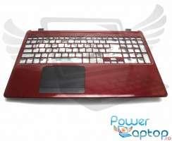 Palmrest Acer Travelmate P255 MPG. Carcasa Superioara Acer Travelmate P255 MPG Visiniu cu touchpad inclus