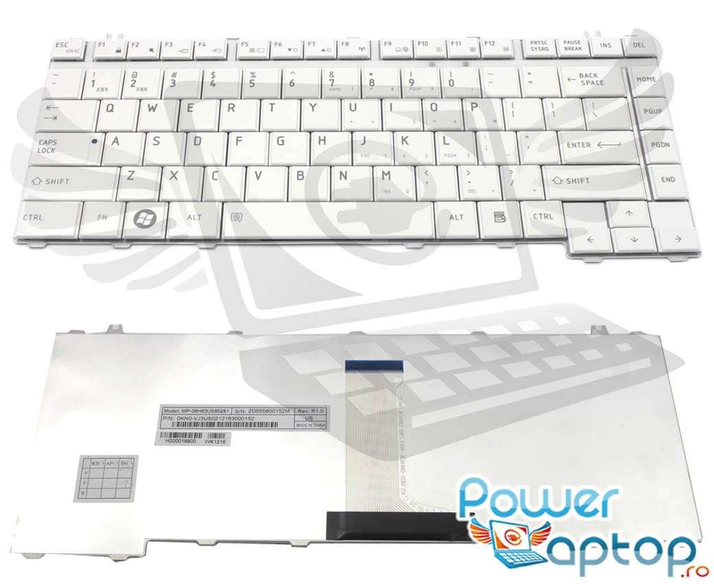Tastatura Toshiba P000422920 alba imagine powerlaptop.ro 2021