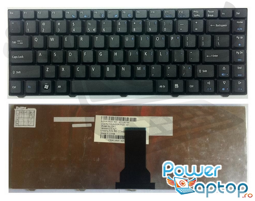 Tastatura eMachines D520 imagine powerlaptop.ro 2021
