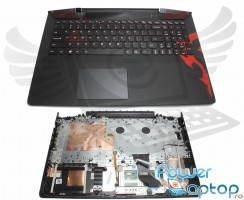 Tastatura Lenovo IdeaPad Y700-15ACZ neagra cu Palmrest negru iluminata backlit. Keyboard Lenovo IdeaPad Y700-15ACZ neagra cu Palmrest negru. Tastaturi laptop Lenovo IdeaPad Y700-15ACZ neagra cu Palmrest negru. Tastatura notebook Lenovo IdeaPad Y700-15ACZ neagra cu Palmrest negru