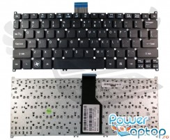 Tastatura Acer Aspire V5-123 neagra. Keyboard Acer Aspire V5-123 neagra. Tastaturi laptop Acer Aspire V5-123 neagra. Tastatura notebook Acer Aspire V5-123 neagra