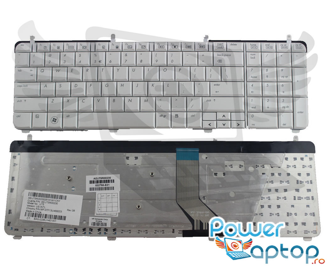 Tastatura HP 519004 001 Alba imagine powerlaptop.ro 2021