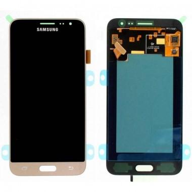 Ansamblu Display LCD + Touchscreen Samsung Galaxy J3 2016 J320F Gold Auriu. Ecran + Digitizer Samsung Galaxy J3 2016 J320F Gold Auriu