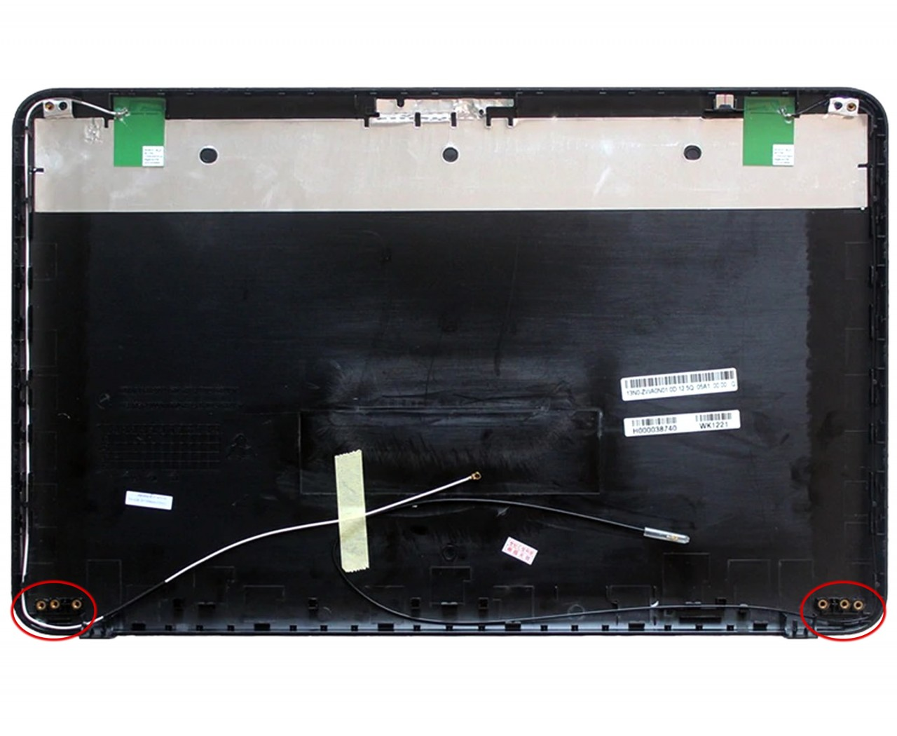 Capac Display BackCover Toshiba H000038650 Carcasa Display Neagra cu 3 Suruburi Balamale imagine powerlaptop.ro 2021