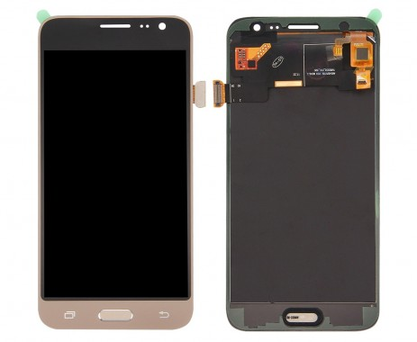 Ansamblu Display LCD + Touchscreen Samsung Galaxy J3 2016 J320P Gold Auriu . Ecran + Digitizer Samsung Galaxy J3 2016 J320P Gold Auriu