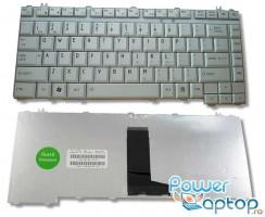 Tastatura Toshiba Satellite A350 argintie. Keyboard Toshiba Satellite A350 argintie. Tastaturi laptop Toshiba Satellite A350 argintie. Tastatura notebook Toshiba Satellite A350 argintie