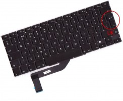 Tastatura Apple MacBook Pro 15 Retina A1398 ME293. Keyboard Apple MacBook Pro 15 Retina A1398 ME293. Tastaturi laptop Apple MacBook Pro 15 Retina A1398 ME293. Tastatura notebook Apple MacBook Pro 15 Retina A1398 ME293