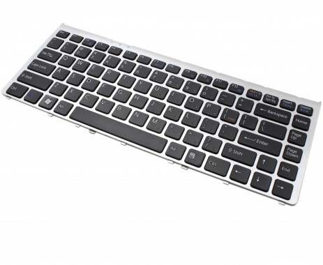 Tastatura Sony Vaio VGN-FW94GS neagra cu rama gri. Keyboard Sony Vaio VGN-FW94GS neagra cu rama gri. Tastaturi laptop Sony Vaio VGN-FW94GS neagra cu rama gri. Tastatura notebook Sony Vaio VGN-FW94GS neagra cu rama gri