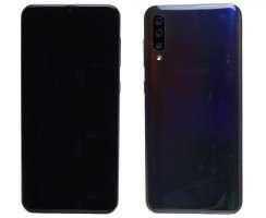 Pachet Recarosare Samsung Galaxy A50 A505 Black Negru Original Display, Rama display, Capac spate, Baterie, Modul incarcare