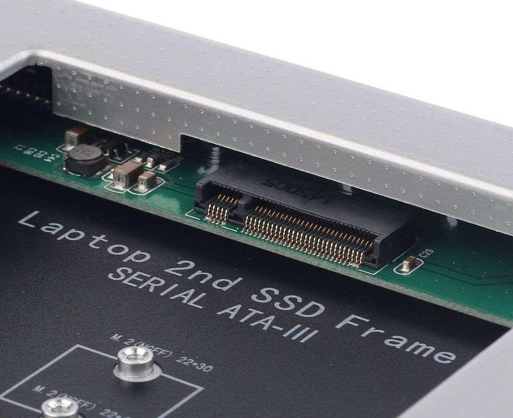 HDD Caddy laptop 12.7mm intern M2 NGFF SSD extern SATA imagine powerlaptop.ro 2021
