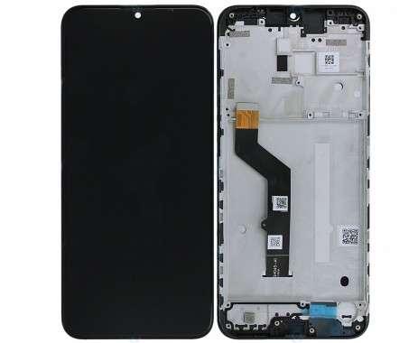 Ansamblu Display LCD  + Touchscreen Motorola Moto G9 Play cu rama neagra. Modul Ecran + Digitizer Motorola Moto G9 Play cu rama neagra
