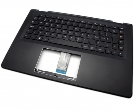 Tastatura Lenovo 5CB0J34020 Neagra cu Palmrest negru iluminata backlit. Keyboard Lenovo 5CB0J34020 Neagra cu Palmrest negru. Tastaturi laptop Lenovo 5CB0J34020 Neagra cu Palmrest negru. Tastatura notebook Lenovo 5CB0J34020 Neagra cu Palmrest negru