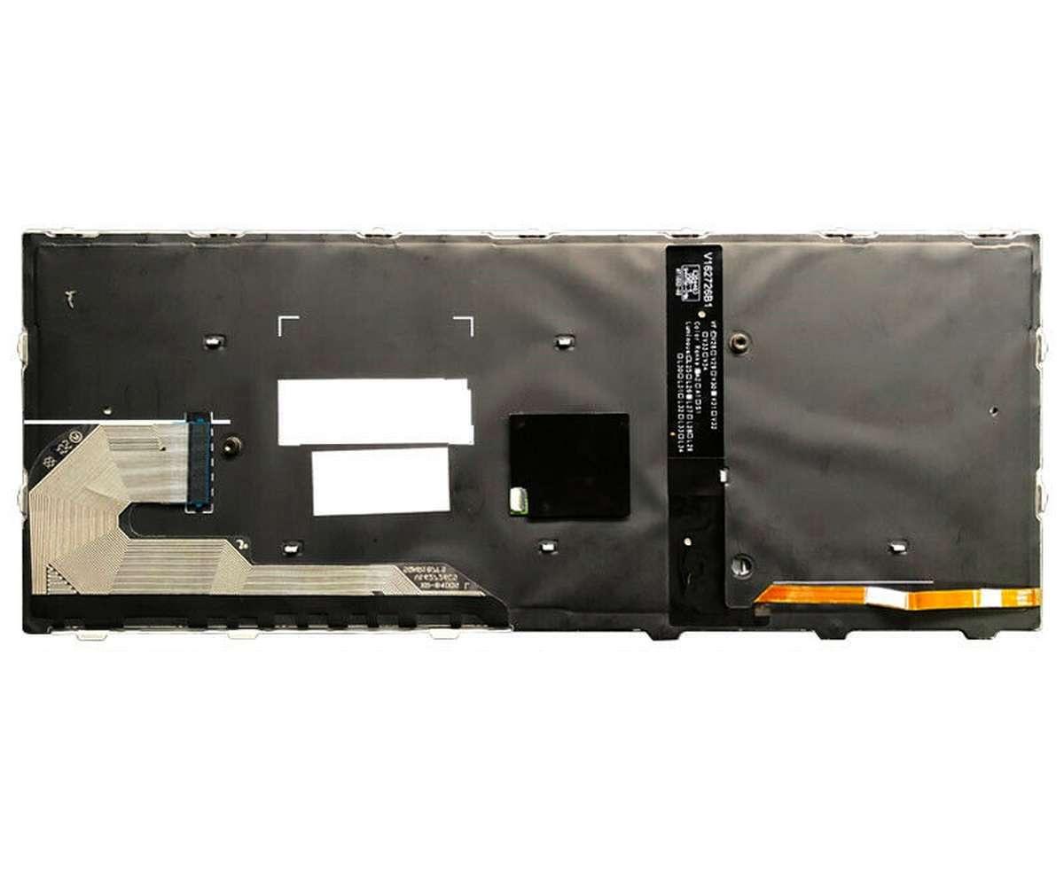 Tastatura HP EliteBook 830 G5 Neagra cu rama argintie iluminata backlit imagine