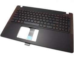 Tastatura Asus  13N0-PEA1S01 rosie cu Palmrest negru-rosu. Keyboard Asus  13N0-PEA1S01 rosie cu Palmrest negru-rosu. Tastaturi laptop Asus  13N0-PEA1S01 rosie cu Palmrest negru-rosu. Tastatura notebook Asus  13N0-PEA1S01 rosie cu Palmrest negru-rosu