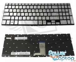 Tastatura Samsung  N250 argintie iluminata. Keyboard Samsung  N250. Tastaturi laptop Samsung  N250. Tastatura notebook Samsung  N250