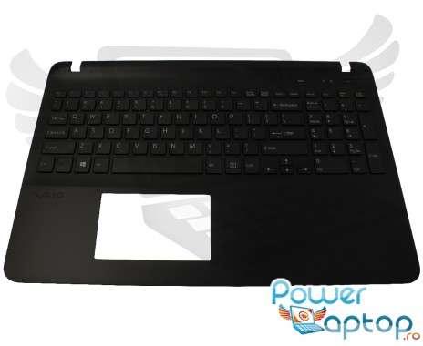 Tastatura Sony Vaio SVF15 cu Palmrest negru. Keyboard Sony Vaio SVF15 cu Palmrest negru. Tastaturi laptop Sony Vaio SVF15 cu Palmrest negru. Tastatura notebook Sony Vaio SVF15 cu Palmrest negru