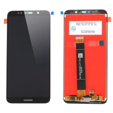 Ansamblu Display LCD + Touchscreen Huawei Y5 2018 DRA-L01 Black Negru . Ecran + Digitizer Huawei Y5 2018 DRA-L01 Black Negru