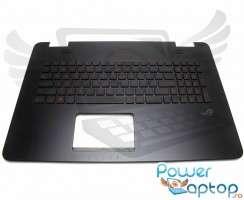 Palmrest Asus ROG G771JM cu tastatura. Carcasa Superioara Asus ROG G771JM Negru