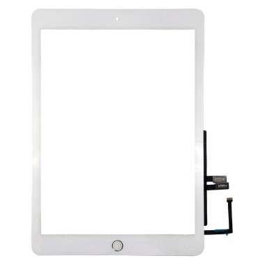 Digitizer Touchscreen Apple iPad 6 A1893 cu buton home si adeziv Alb . Geam Sticla Tableta Apple iPad 6 A1893 cu buton home si adeziv Alb