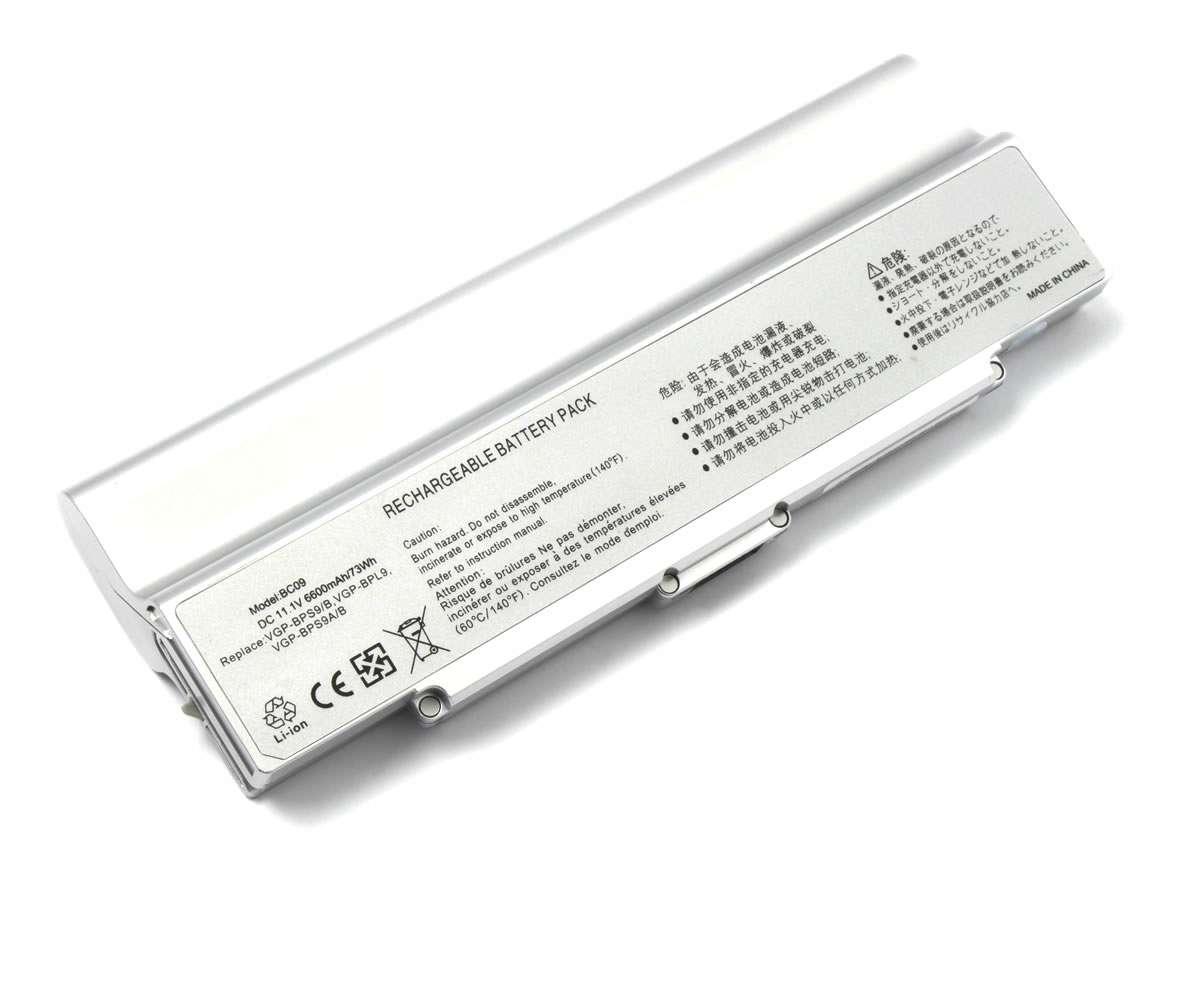Baterie Sony VAIO VGN SZ84S 9 celule argintie imagine powerlaptop.ro 2021