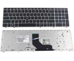 Tastatura HP ProBook 6565b rama argintie. Keyboard HP ProBook 6565b rama argintie. Tastaturi laptop HP ProBook 6565b rama argintie. Tastatura notebook HP ProBook 6565b rama argintie
