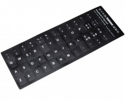 Sticker tastatura laptop layout Italiana negru. Sticker taste laptop layout Italiana negru