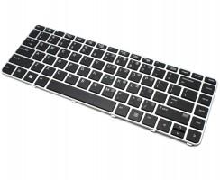 Tastatura HP EliteBook 840 G3 Neagra cu Rama Argintie. Keyboard HP EliteBook 840 G3 Neagra cu Rama Argintie. Tastaturi laptop HP EliteBook 840 G3 Neagra cu Rama Argintie. Tastatura notebook HP EliteBook 840 G3 Neagra cu Rama Argintie