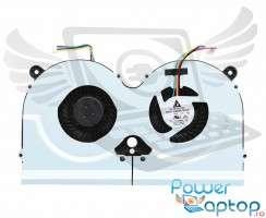 Sistem coolere laptop Asus  G55VM. Ventilatoare procesor Asus  G55VM. Sistem racire laptop Asus  G55VM