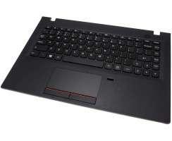 Tastatura Lenovo E31-80 Neagra cu Palmrest negru si Touchpad. Keyboard Lenovo E31-80 Neagra cu Palmrest negru si Touchpad. Tastaturi laptop Lenovo E31-80 Neagra cu Palmrest negru si Touchpad. Tastatura notebook Lenovo E31-80 Neagra cu Palmrest negru si Touchpad