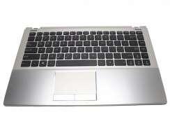 Tastatura Asus  U46E neagra cu Palmrest argintiu