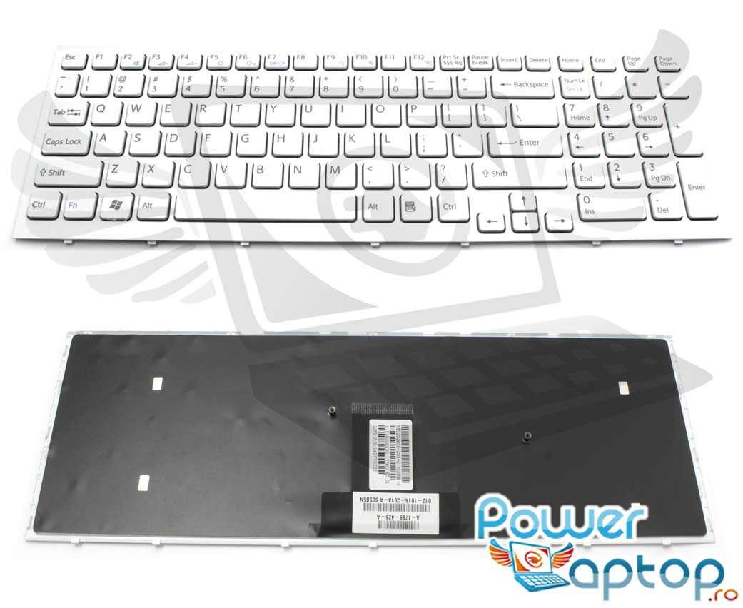 Tastatura Sony MP 09L23US 886 alba imagine powerlaptop.ro 2021