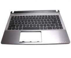Tastatura Asus U32VJ neagra cu Palmrest gri. Keyboard Asus U32VJ neagra cu Palmrest gri. Tastaturi laptop Asus U32VJ neagra cu Palmrest gri. Tastatura notebook Asus U32VJ neagra cu Palmrest gri