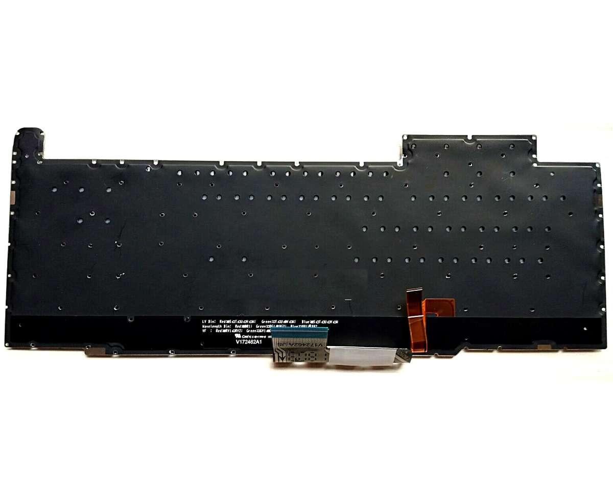 Tastatura Asus Rog V172462A1 iluminata layout US fara rama enter mic imagine
