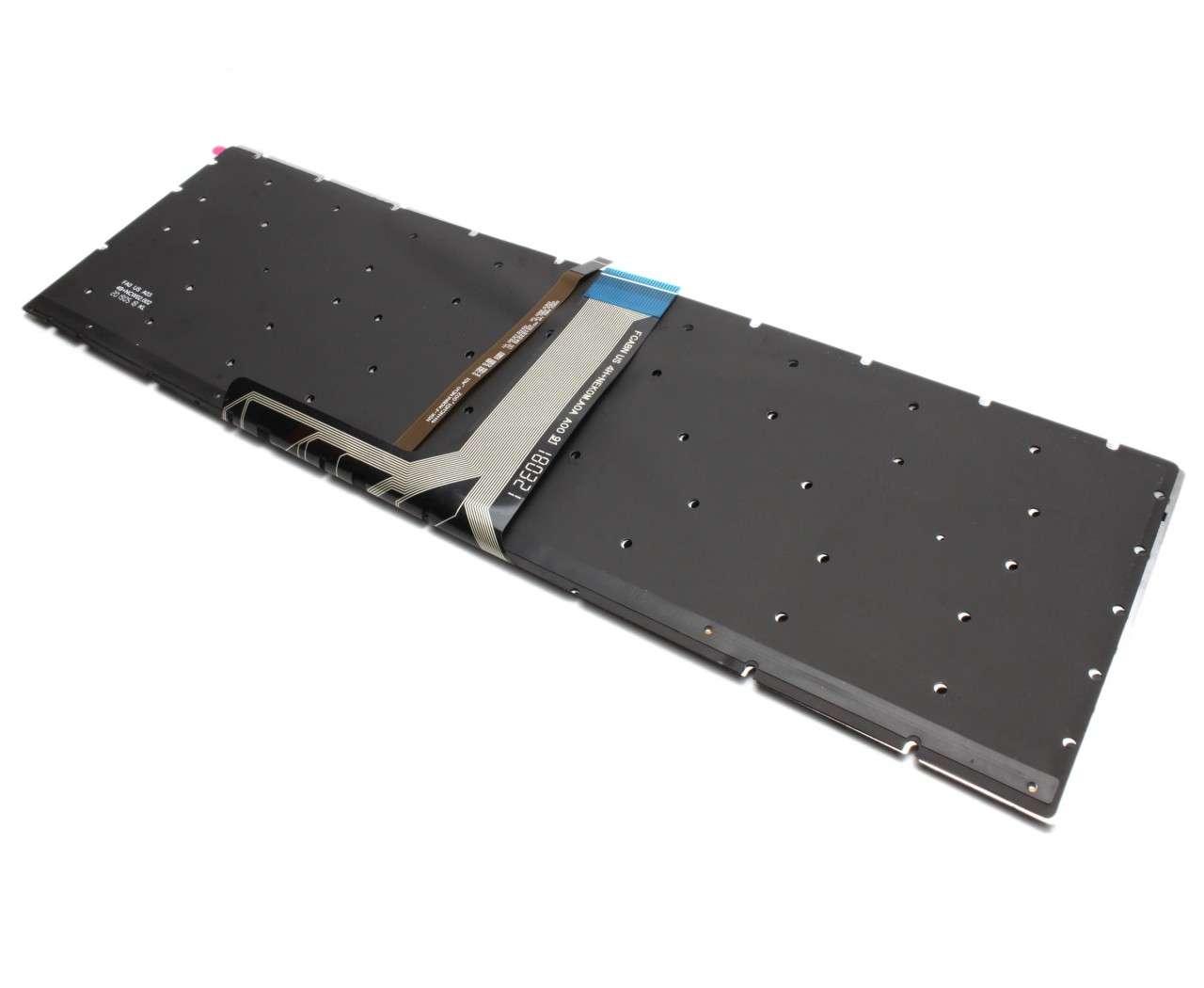 Tastatura MSI GE73 Raider 8RE iluminata layout US fara rama enter mic imagine powerlaptop.ro 2021