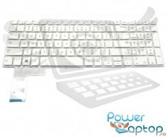 Tastatura Samsung  NP370R5E alba. Keyboard Samsung  NP370R5E. Tastaturi laptop Samsung  NP370R5E. Tastatura notebook Samsung  NP370R5E