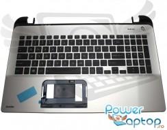 Tastatura Toshiba  A000296140 Neagra cu Palmrest Argintiu. Keyboard Toshiba  A000296140 Neagra cu Palmrest Argintiu. Tastaturi laptop Toshiba  A000296140 Neagra cu Palmrest Argintiu. Tastatura notebook Toshiba  A000296140 Neagra cu Palmrest Argintiu