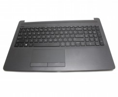 Tastatura HP 15-da0175nq neagra cu Palmrest negru. Keyboard HP 15-da0175nq neagra cu Palmrest negru. Tastaturi laptop HP 15-da0175nq neagra cu Palmrest negru. Tastatura notebook HP 15-da0175nq neagra cu Palmrest negru