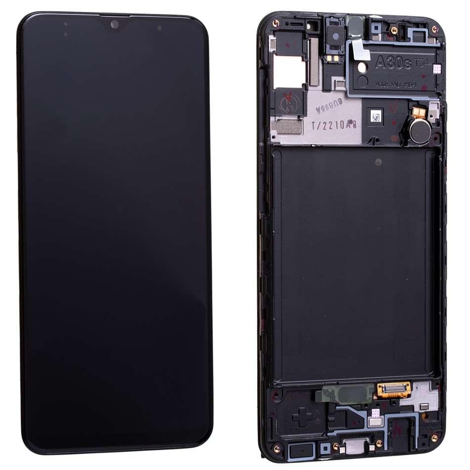 Display Samsung Galaxy A30S A307 Display Original Service Pack Black Negru imagine powerlaptop.ro 2021