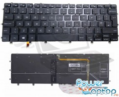 Tastatura Dell XPS 13 9350 iluminata. Keyboard Dell XPS 13 9350. Tastaturi laptop Dell XPS 13 9350. Tastatura notebook Dell XPS 13 9350