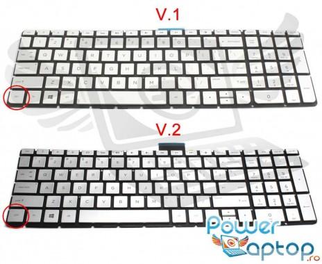 Tastatura HP Pavilion 15-AK argintie iluminata. Keyboard HP Pavilion 15-AK. Tastaturi laptop HP Pavilion 15-AK. Tastatura notebook HP Pavilion 15-AK