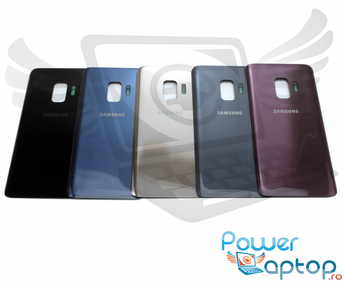 Capac Baterie Samsung Galaxy S9 G960 Negru Midnight Black Capac Spate imagine powerlaptop.ro 2021