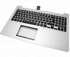 Tastatura Asus  K551LN neagra cu Palmrest argintiu. Keyboard Asus  K551LN neagra cu Palmrest argintiu. Tastaturi laptop Asus  K551LN neagra cu Palmrest argintiu. Tastatura notebook Asus  K551LN neagra cu Palmrest argintiu