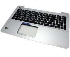 Tastatura Asus  13N0-?R8A0601 Neagra cu Palmrest argintiu. Keyboard Asus  13N0-?R8A0601 Neagra cu Palmrest argintiu. Tastaturi laptop Asus  13N0-?R8A0601 Neagra cu Palmrest argintiu. Tastatura notebook Asus  13N0-?R8A0601 Neagra cu Palmrest argintiu