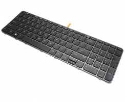 Tastatura HP 821195-001 Nragra cu rama neagra iluminata backlit. Keyboard HP 821195-001 Nragra cu rama neagra. Tastaturi laptop HP 821195-001 Nragra cu rama neagra. Tastatura notebook HP 821195-001 Nragra cu rama neagra