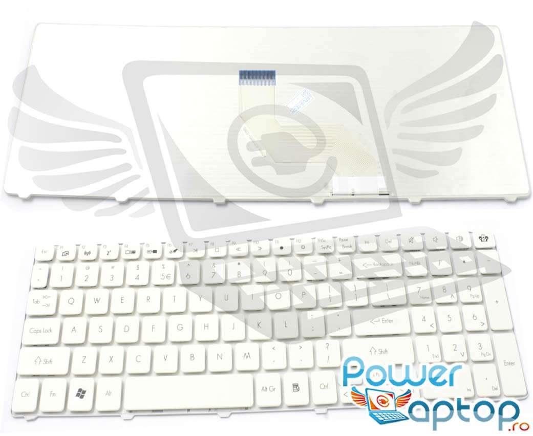 Tastatura eMachines E442 alba imagine powerlaptop.ro 2021