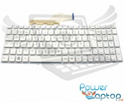 Tastatura Samsung  NP300V5Z alba. Keyboard Samsung  NP300V5Z. Tastaturi laptop Samsung  NP300V5Z. Tastatura notebook Samsung  NP300V5Z
